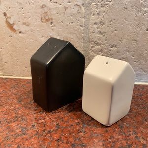 Kitchen - Black and White Modern Salt and Pepper Shakers
